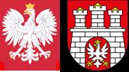 Godło Rzeczpospolitej Polskiej i Herb Miasta Zgierz
